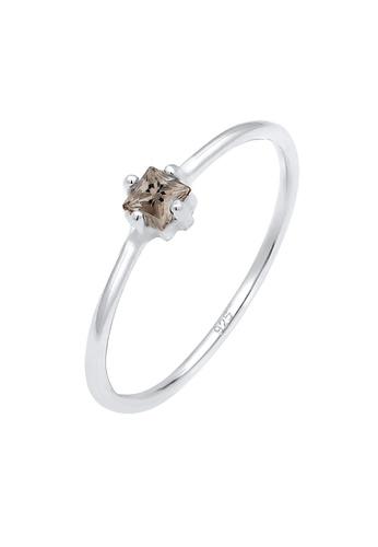 ELLI GERMANY silver Ring Crystals Smoky Quartz A773EAC339EDE2GS_1
