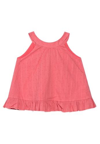 Andi + Olivia pink Halter Neck Tunic Top 79373KA5A21FF7GS_1