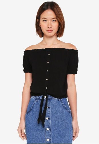 Cotton On black Kim Off The Shoulder Top 2EDF5AA0176765GS_1