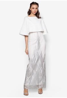 Layered Jacquard Embroidery Dress