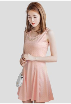 Pearl Extravagance Fit & Flare Dress