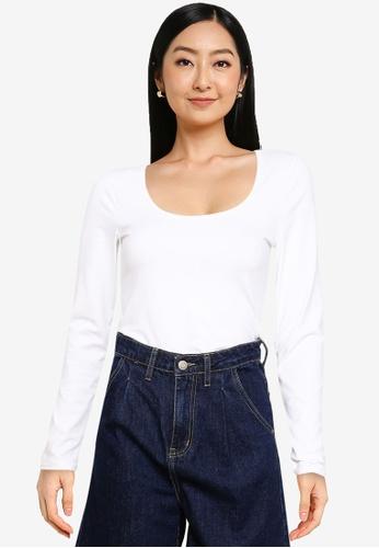 Abercrombie & Fitch white Core Seamless Bodysuit Top 3C63BAA405FDE0GS_1
