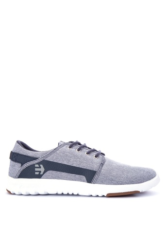 Etnies grey and navy Scout Sneakers D9209SH30AD70AGS_1