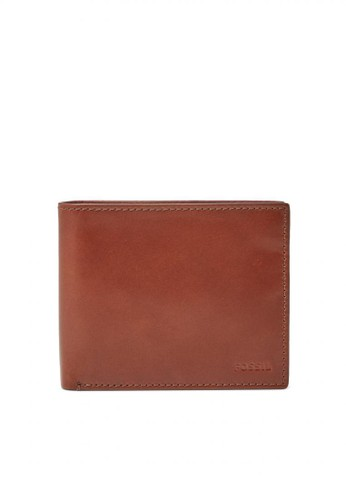Fossil brown Fossil Hugh - Leather - Large Coin Pocket - Cognac - Dompet Pria - ML3987-222 C3090AC163B900GS_1