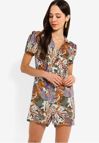 3d850aa94e Buy Something Borrowed Button Down Collared Playsuit Online on ZALORA  Singapore