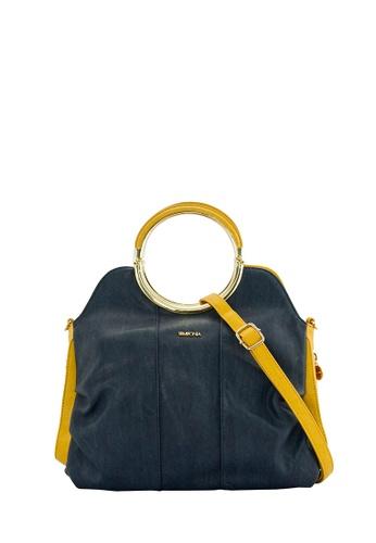 SEMBONIA blue SEMBONIA Synthetic Leather Satchel Bag (Blue) SE598AC0SBC2MY_1