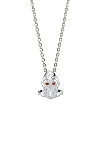 SC Tom Silver silver Lucky Frog Stone Pendant with Chain-SP036 w/chain SC872AC63JWMPH_1