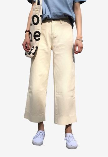 Lara beige Women Wide Leg Ankle-length Pants CA653AAF5C53C8GS_1