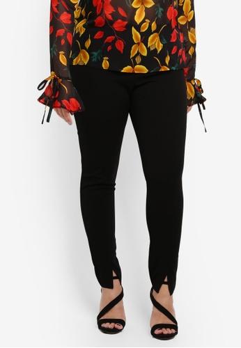 MISSGUIDED black Plus Size Skinny Fit Cigarette Trousers E070FAA551AC91GS_1