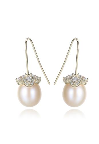 A.Excellence white Premium White Pearl Elegant Earring ABB1AACF88ECB1GS_1