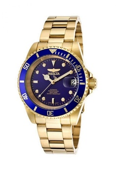 13e90fb5341102 INVICTA blue and gold Invicta Pro Diver Automatic Men IP 40mm Stainless  Steel Diving Watch 8930OB