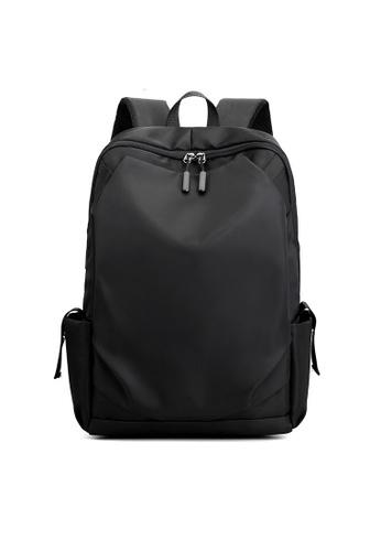 A FRENZ black Laptop Backpack Waterproof Daypack 7D636ACE503702GS_1