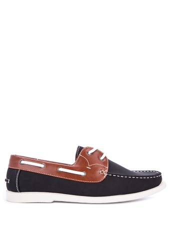 Preview black and brown OX101B-5 Boat Shoes 52CE6SH088398CGS_1