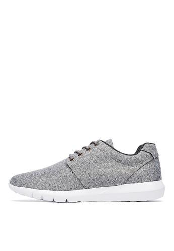 MIT。個性型男。低調人字紋休閒esprit 鞋鞋-04785-灰色, 鞋, 休閒鞋