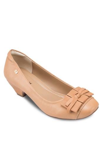 esprit 香港 outletCharlie 蝴蝶結圓頭低跟鞋, 女鞋, 鞋
