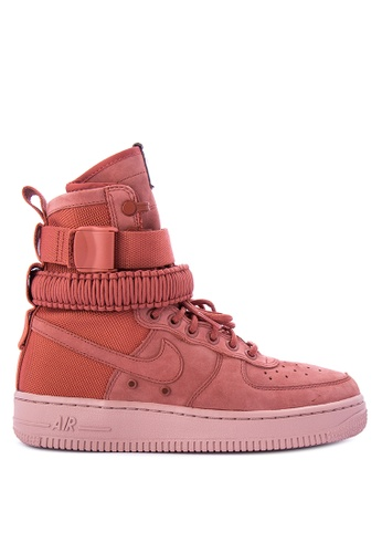 Nike pink Women's Nike SF Air Force 1 Shoes NI126SH0KPRSPH_1