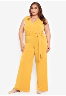 b2f6b9406b2 Plus Size V-Overlap Detailed Shearing Jumpsuit 7F30FAA6F96F9CGS 1 Ashley  Collection ...