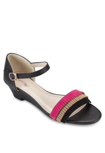 Play! Viola 撞色流蘇低跟楔型跟涼鞋、 女鞋、 鞋VelvetPlay!Viola撞色流蘇低跟楔型跟涼鞋最新折價