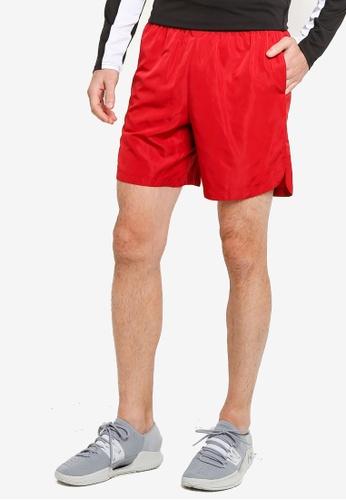 ZALORA ACTIVE 紅色 Side Slit Sport Shorts 143A7AAF761FD1GS_1