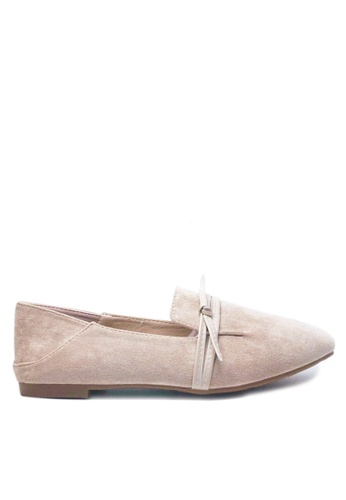Twenty Eight Shoes beige Simple Synthetic Suede Loafers D750-2 97F1BSH32DB2C5GS_1