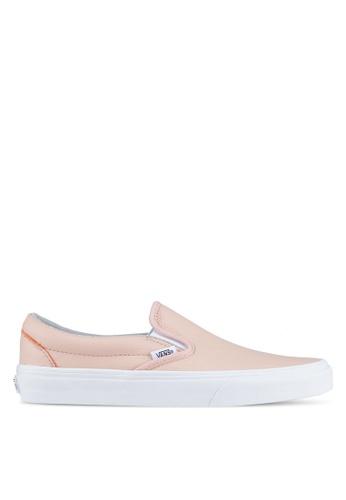 VANS pink Classic Leather Slip-On VA142SH0SWO9MY_1