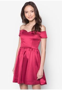 Love Off Shoulder Fit And Flare Dress