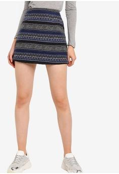 ecff6e9d87b6 Something Borrowed blue Jacquard A-Line Skirt 0BFFEAA6691E9DGS_1