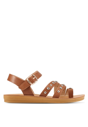 Noveni brown Noveni Strappy Sandals NO978SH0S9R8MY_1