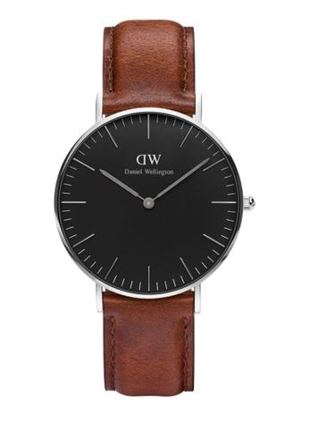 Daniel Wellington brown Classic Black St Mawes Watch 36mm DA376AC73NBUMY_1
