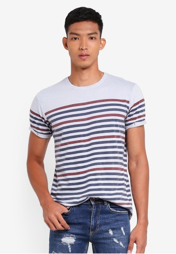 Indicode Jeans blue Kade Striped T-Shirt CA8B0AA101451AGS_1