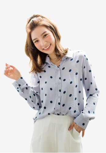 Tokichoi grey Polka Dot Shirt Gray 83294AAF2856D2GS_1