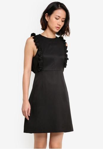 ZALORA black Frill Detail Dress 1F78FAACDBE3FAGS_1