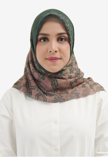 Buttonscarves green Buttonscarves Haramain Voile Square Emerald C95AEAA970AED8GS_1