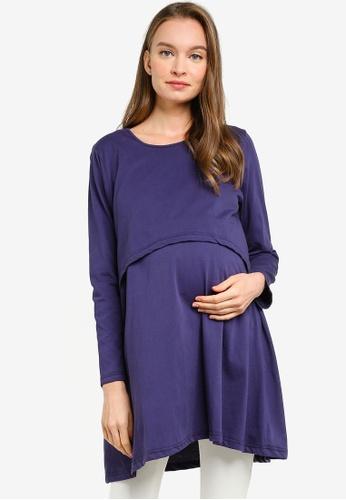 Aqeela Muslimah Wear blue Nursing Tunic Top 1A4E9AA007A624GS_1