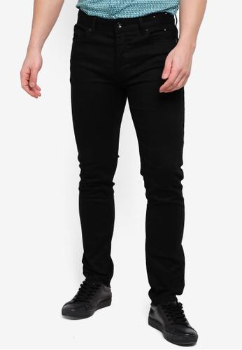 Topman 黑色 緊身牛仔褲 AE968AA0B4F0F2GS_1