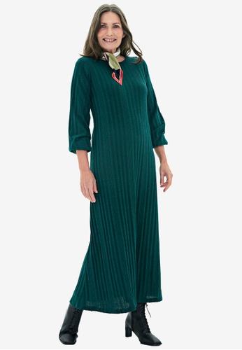 LC Waikiki green Plain Viscose Maxi Dress 8FE89AA350B248GS_1