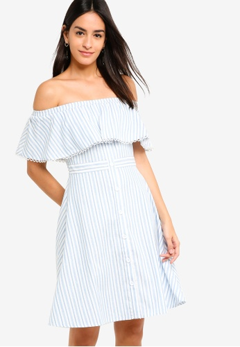 ZALORA multi Off Shoulder Fit And Flare Dress 1690BAA0EFFF50GS_1