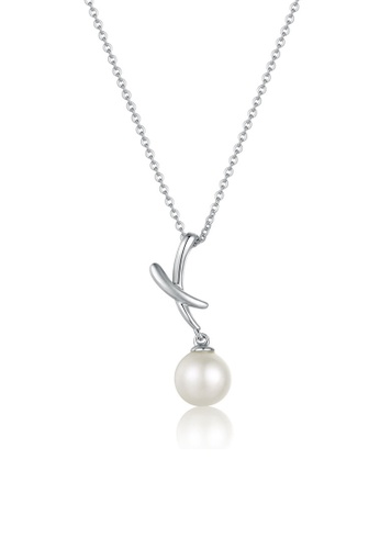 MaBelle silver 925 Silver Pearl Necklace Pure Bliss E2DEFAC80215F3GS_1