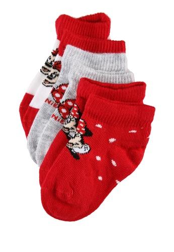 LC Waikiki white Baby Girl Minnie Mouse Printed Booties Socks 3 Pieces F4172KA1EE74FCGS_1
