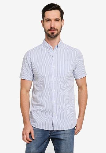 SUPERDRY blue Classic Seersucker Shirt 991A8AA2F267CBGS_1