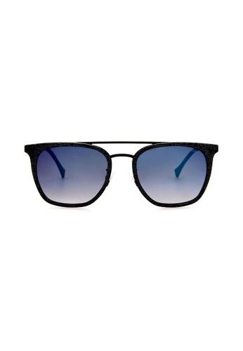 Police blue POLICE Impact 1 SPL152 AG2B Black/Blue Sunglasses PO706AC0RU2WMY_1