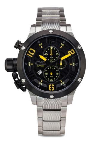 Carlo Cardini black and silver Carlo Cardini CX5 001G-SS-44 Gents Watch CA038AC39LEMMY_1