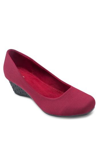 zalora 手錶Covet 方頭素面楔型鞋, 女鞋, 厚底楔形鞋