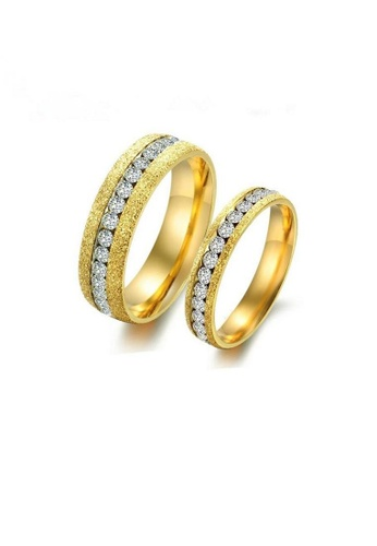 ADORA Stainless Steel Couple Rings AD365AC2VUQ4HK_1