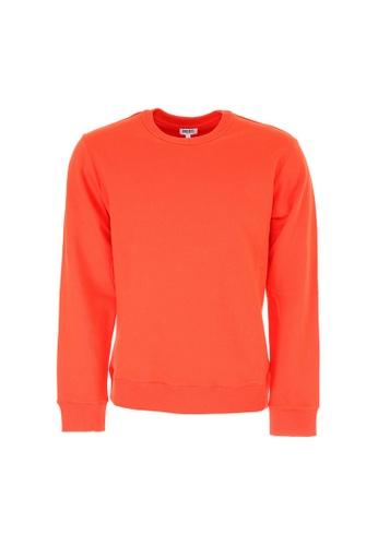 Kenzo orange Kenzo Logo Print Sweatshirt in Medium Red 09EB8AA698D758GS_1