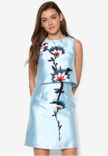Carolina's 兩件式印花連身裙, 服飾, 洋esprit 台中裝