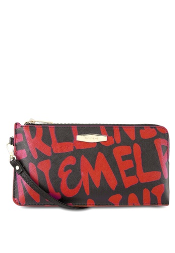 Perllini&Mel black and red Faux Leather Wristlet PE444AC0SBNKMY_1