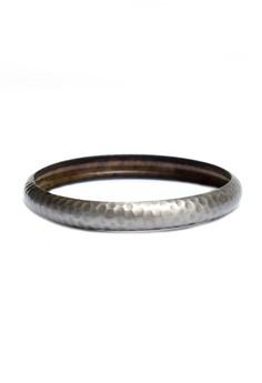 Clique Silver Sleek Rustic Bangle