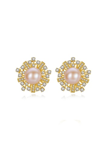 A.Excellence pink Premium Pink Pearl Elegant Earring 6BB85AC0CD5341GS_1
