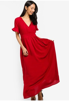 8583a0379f8e ZALORA Wrap Maxi Dress RM 119.00. Sizes XS S M L XL